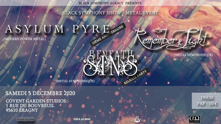 Asylum Pyre & Beneath My Sins + Guest - Release/Anniversary show