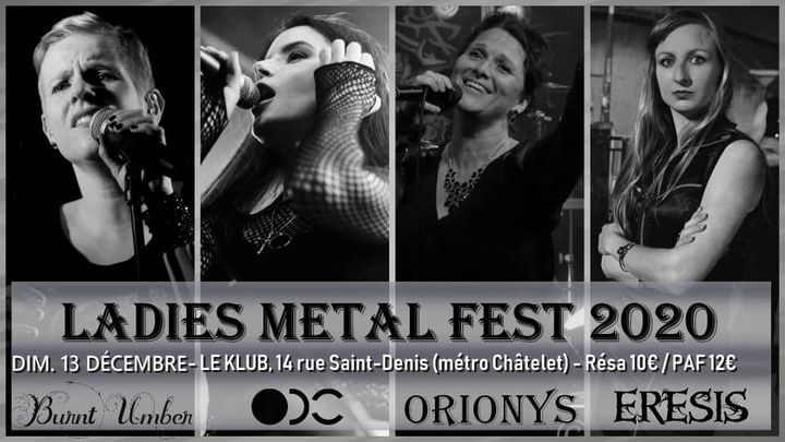5e Ladies Rock Metal Fest : Burnt Umber,Eresis,ODC,Orionys.